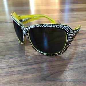 Antique Designer Women Missoni Sunglasses Rhinesto